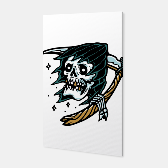 Thumbnail image of Grim Reaper Tattoo Canvas, Live Heroes