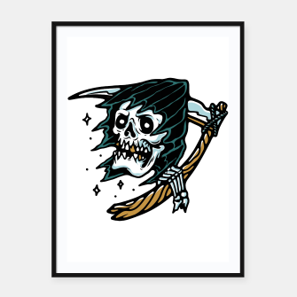 Thumbnail image of Grim Reaper Tattoo Framed poster, Live Heroes