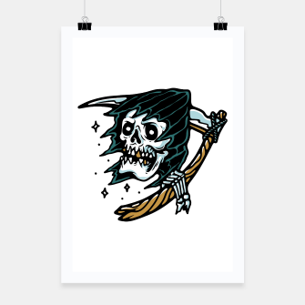 Thumbnail image of Grim Reaper Tattoo Poster, Live Heroes