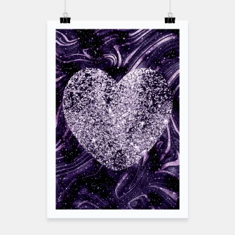 Thumbnail image of Cosmic Glitter Heart Dream #1 (Faux Glitter) #love #decor #art  Plakat, Live Heroes
