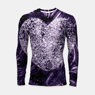 Thumbnail image of Cosmic Glitter Heart Dream #1 (Faux Glitter) #love #decor #art  Longsleeve rashguard, Live Heroes