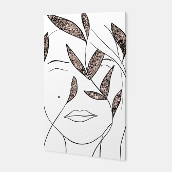 Thumbnail image of Glitter Lady #2 #minimal #line #art  Canvas, Live Heroes