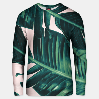 Thumbnail image of Tropical Blush Banana Leaves Dream #5 #decor #art  Unisex sweatshirt, Live Heroes