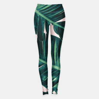 Miniatur Tropical Blush Banana Leaves Dream #5 #decor #art  Leggings, Live Heroes