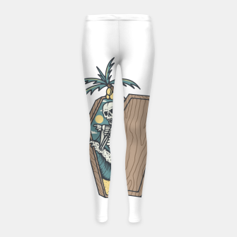 Thumbnail image of Rest in Paradise Girl's leggings, Live Heroes
