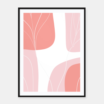 Naturelle Flower Shapes #1 #minimal #wall #decor #art  Plakat mit rahmen thumbnail image