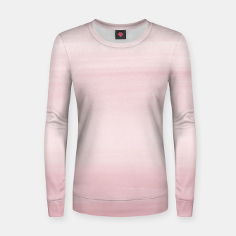 Miniature de image de Touching Blush Watercolor Abstract #1 #painting #decor #art Frauen sweatshirt, Live Heroes