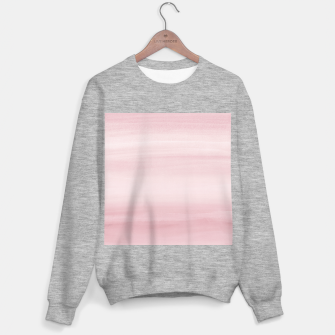 Miniature de image de Touching Blush Watercolor Abstract #1 #painting #decor #art Sweatshirt regulär, Live Heroes