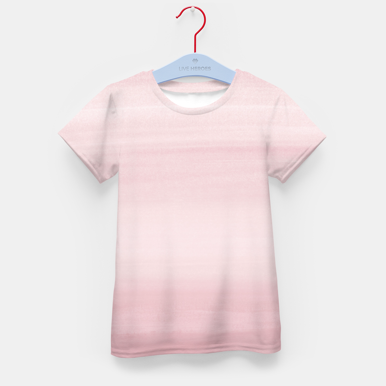 Foto Touching Blush Watercolor Abstract #1 #painting #decor #art T-Shirt für kinder - Live Heroes