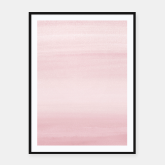 Miniature de image de Touching Blush Watercolor Abstract #1 #painting #decor #art Plakat mit rahmen, Live Heroes