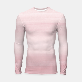 Miniature de image de Touching Blush Watercolor Abstract #1 #painting #decor #art Longsleeve rashguard, Live Heroes