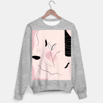 Naturelle Abstract Minimalism #1 #minimal #wall #decor #art Sweatshirt regulär miniature