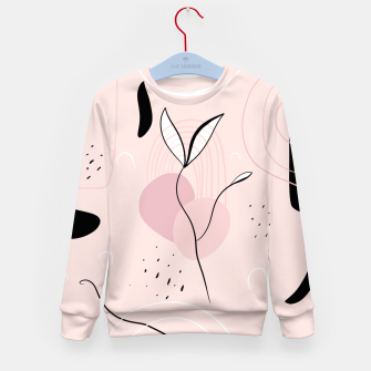 Miniature de image de Naturelle Abstract Minimalism #1 #minimal #wall #decor #art Kindersweatshirt, Live Heroes