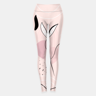 Naturelle Abstract Minimalism #1 #minimal #wall #decor #art Leggings miniature