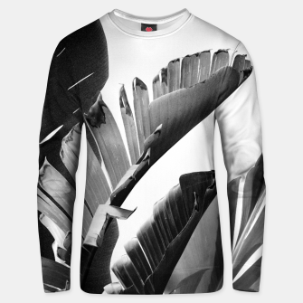 Banana Leaves Finesse #2 #tropical #decor #art Unisex sweatshirt obraz miniatury