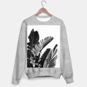 Banana Leaves Finesse #2 #tropical #decor #art Sweatshirt regulär obraz miniatury