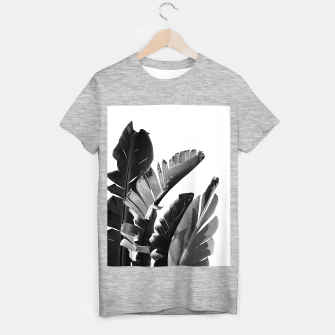 Banana Leaves Finesse #2 #tropical #decor #art T-Shirt regulär obraz miniatury
