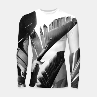 Miniature de image de Banana Leaves Finesse #2 #tropical #decor #art Longsleeve rashguard, Live Heroes