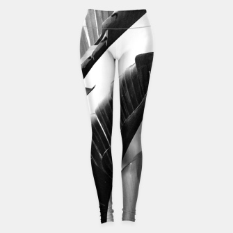 Miniaturka Banana Leaves Finesse #2 #tropical #decor #art Leggings, Live Heroes