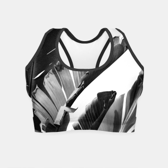 Miniaturka Banana Leaves Finesse #2 #tropical #decor #art Crop Top, Live Heroes