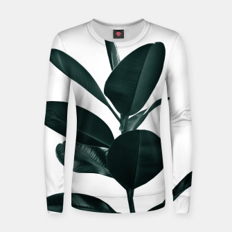 Ficus Finesse #1 #tropical #decor #art  Frauen sweatshirt obraz miniatury