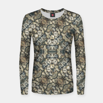 Miniatur Urban Art Textured Print Pattern Women sweater, Live Heroes