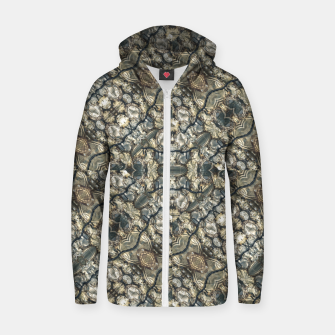 Urban Art Textured Print Pattern Zip up hoodie obraz miniatury