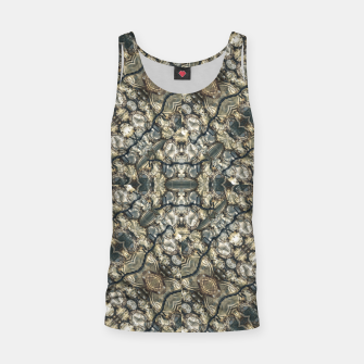 Urban Art Textured Print Pattern Tank Top obraz miniatury