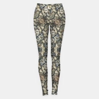 Miniatur Urban Art Textured Print Pattern Leggings, Live Heroes