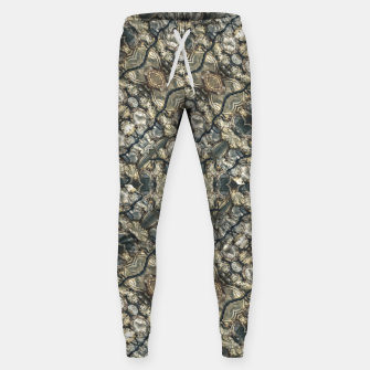Miniatur Urban Art Textured Print Pattern Sweatpants, Live Heroes