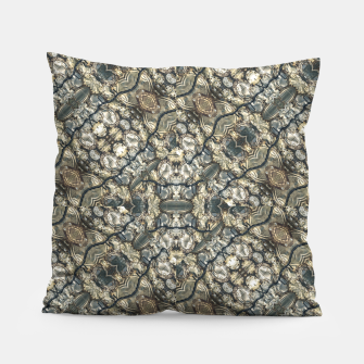 Miniatur Urban Art Textured Print Pattern Pillow, Live Heroes