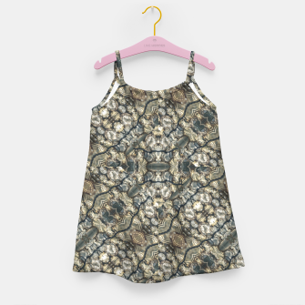 Miniatur Urban Art Textured Print Pattern Girl's dress, Live Heroes
