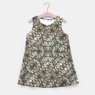 Miniatur Urban Art Textured Print Pattern Girl's summer dress, Live Heroes