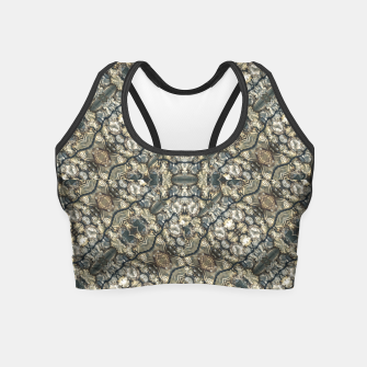 Miniatur Urban Art Textured Print Pattern Crop Top, Live Heroes