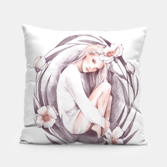 Miniature de image de Eve. Watercolor Pillow, Live Heroes