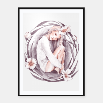 Miniature de image de Eve. Watercolor Framed poster, Live Heroes
