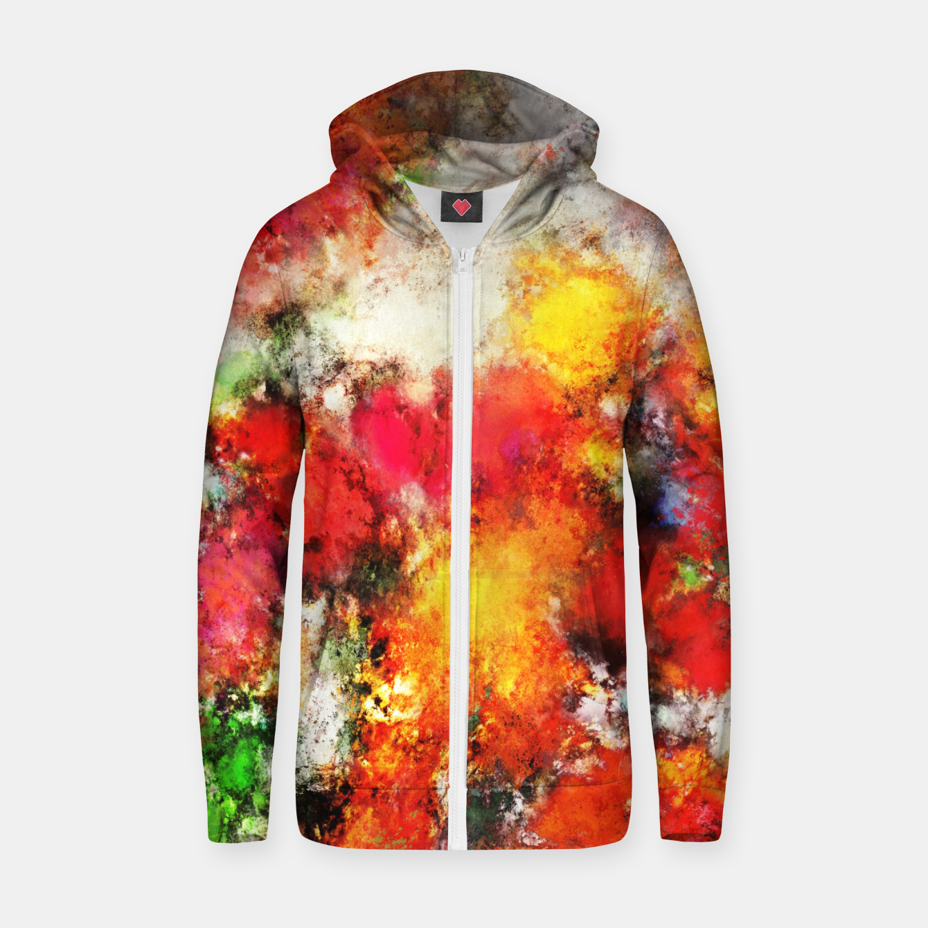 Image of Hiding the truth Zip up hoodie - Live Heroes
