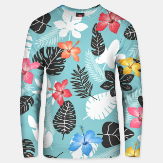 Thumbnail image of Tropical art Unisex sweater, Live Heroes