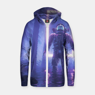 Lost In The Neon Jungle Zip up hoodie thumbnail image