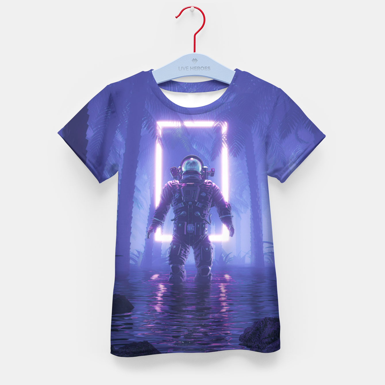 Foto Lost In The Neon Jungle Kid's t-shirt - Live Heroes