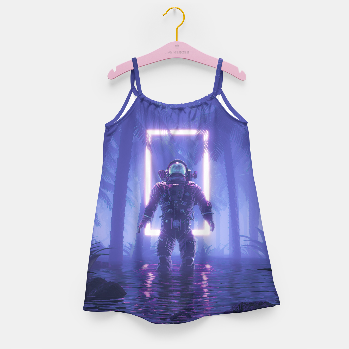 Image of Lost In The Neon Jungle Girl's dress - Live Heroes