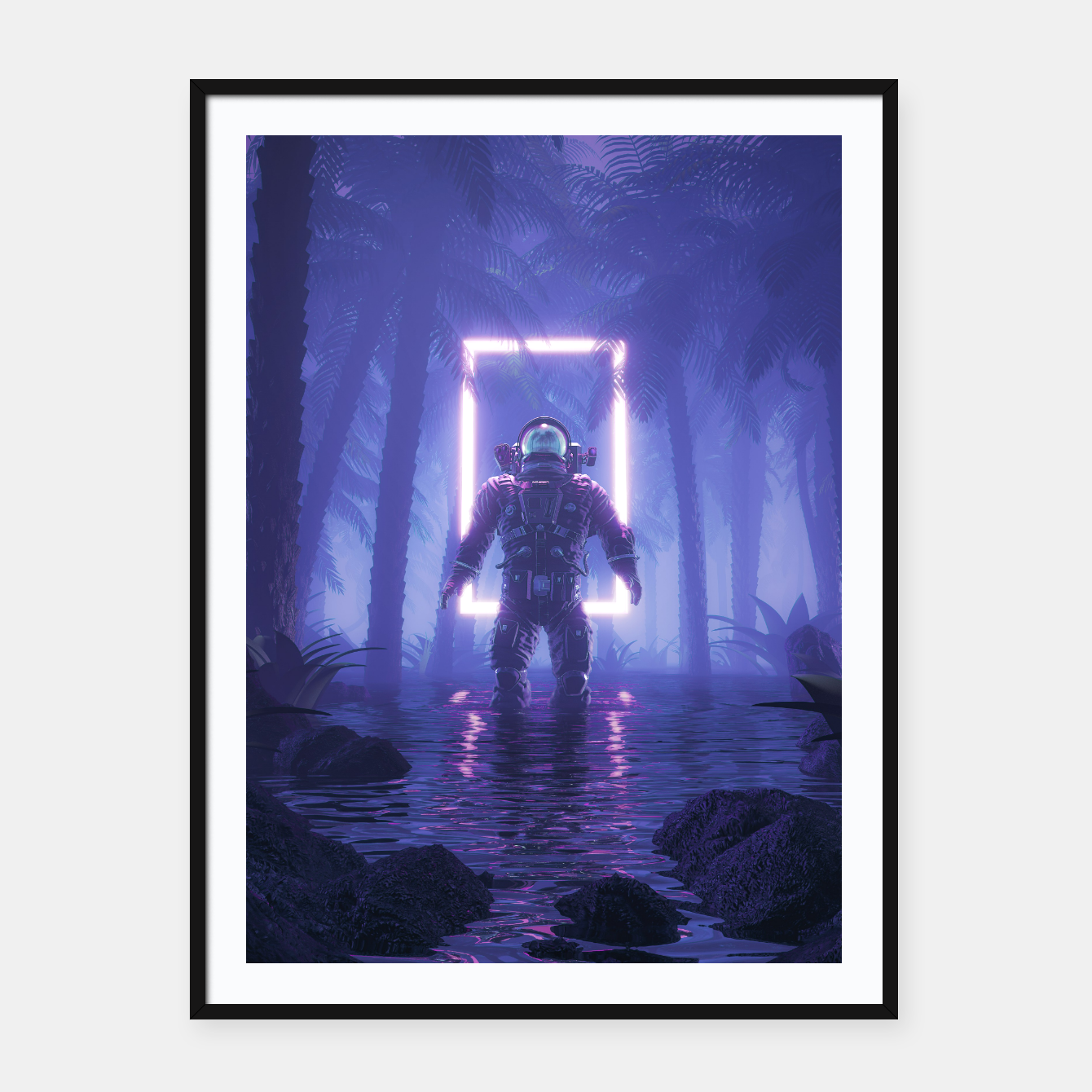Image of Lost In The Neon Jungle Framed poster - Live Heroes