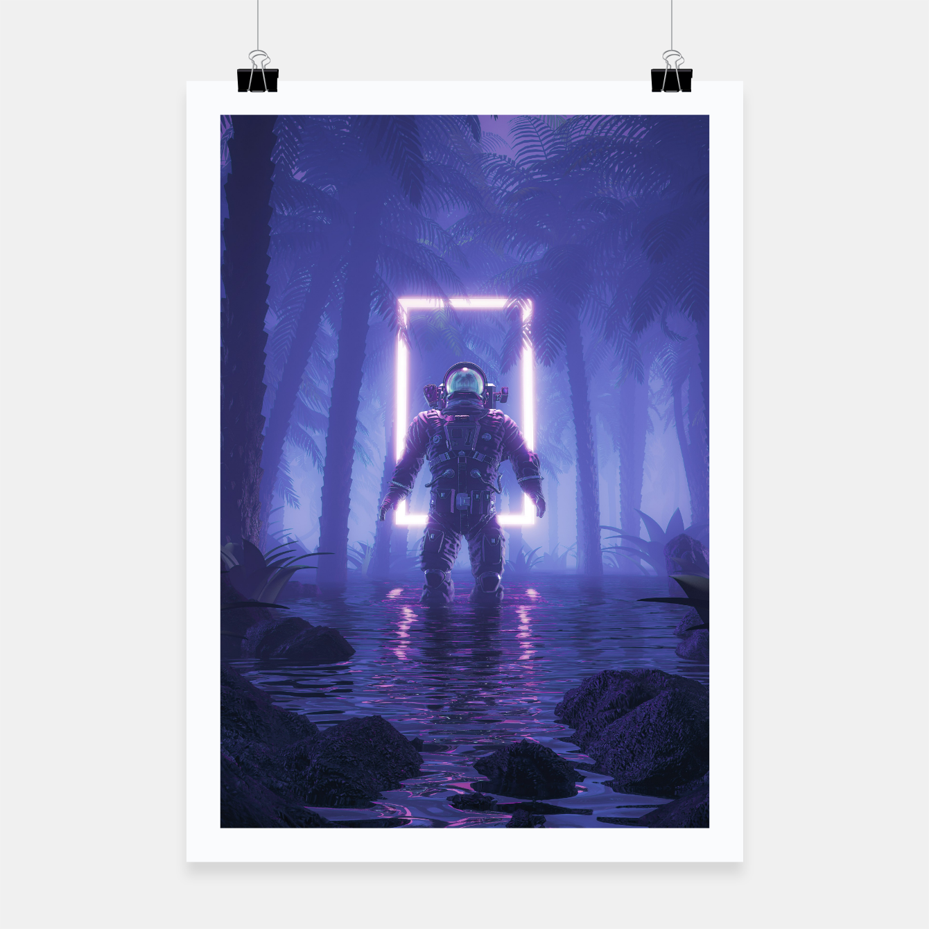 Image of Lost In The Neon Jungle Poster - Live Heroes