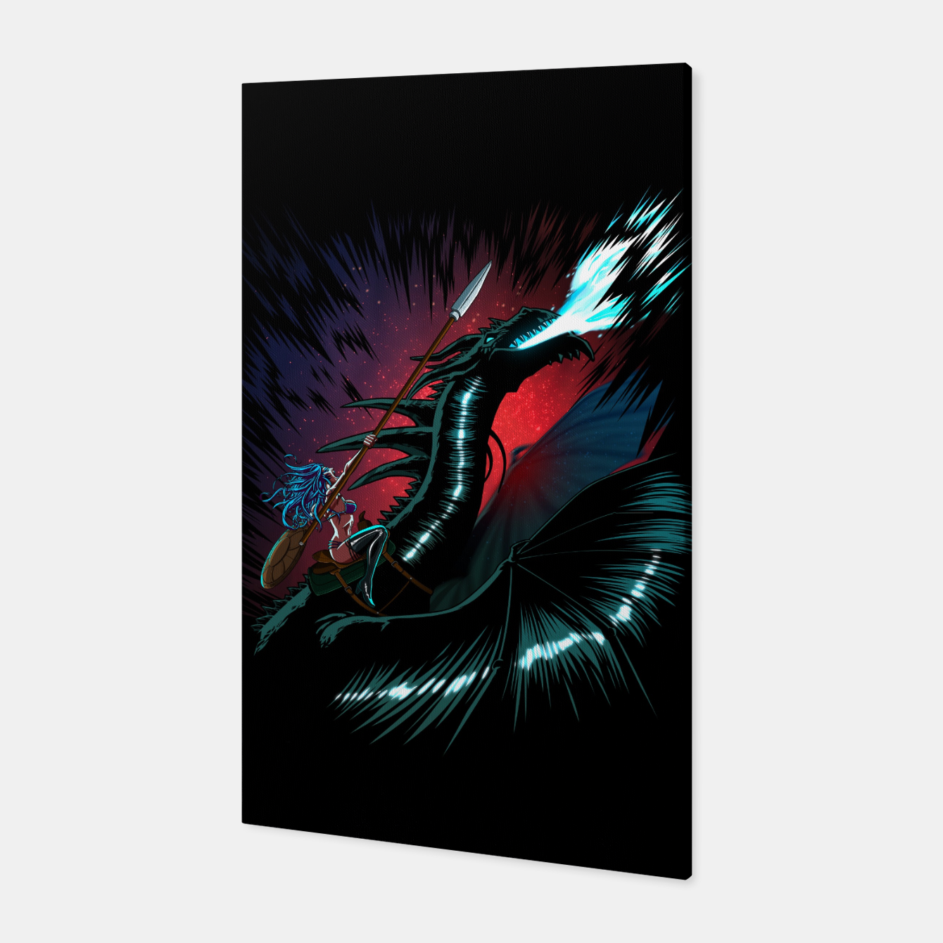 Foto Dragon Wars Canvas - Live Heroes