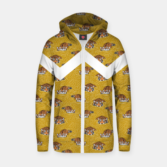 Thumbnail image of Tigers in the water II Sudadera con capucha y cremallera , Live Heroes