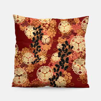 Thumbnail image of Japanese traditional family crest art. Pillow, Live Heroes