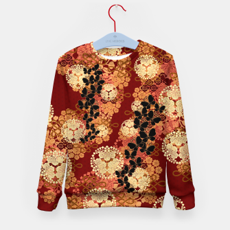 Thumbnail image of Japanese traditional family crest art. Kid's sweater, Live Heroes