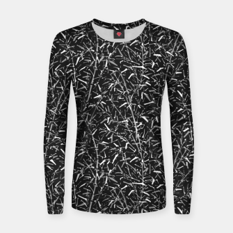 Thumbnail image of Black Bamboo in Monochrome Women sweater, Live Heroes