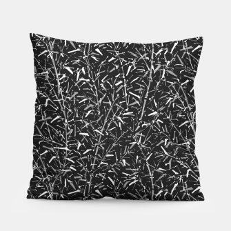 Miniatur Black Bamboo in Monochrome Pillow, Live Heroes