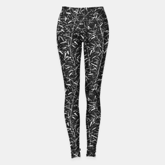 Thumbnail image of Black Bamboo in Monochrome Leggings, Live Heroes